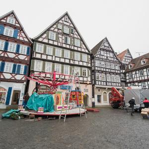Bild Schorndorfer Weihnachtswelt Aufbau 3