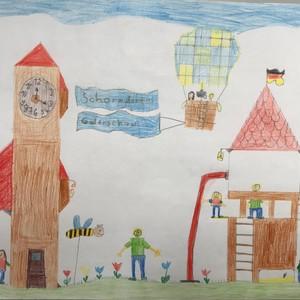Bild Ausstellung Malwettbewerb 2019 Fuchshofschule 4