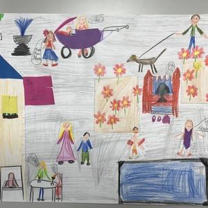 Bild Ausstellung Malwettbewerb 2019 Fuchshofschule Klasse 3a