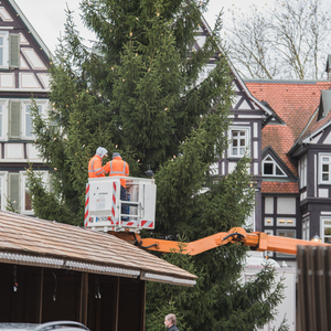 Bild Schorndorfer Weihnachtswelt Aufbau 9