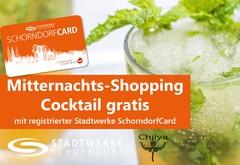 Bio-Cocktail beim Mitternachts-Shopping gratis