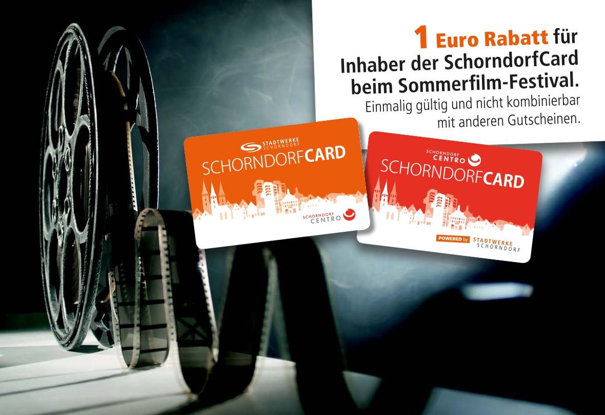 Mit der SchorndorfCard vergünstigt zum Sommerfilmfestival