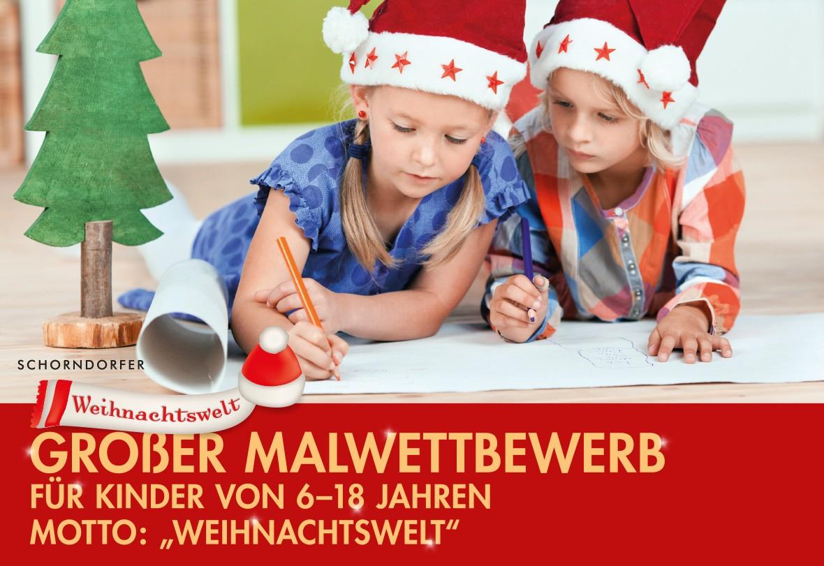 """Großer Malwettbewerb unter dem Motto """"Weihnachtswelt"""""""