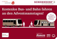 News Kostenlos Bus- und Bahn fahren an den Adventssamstagen!