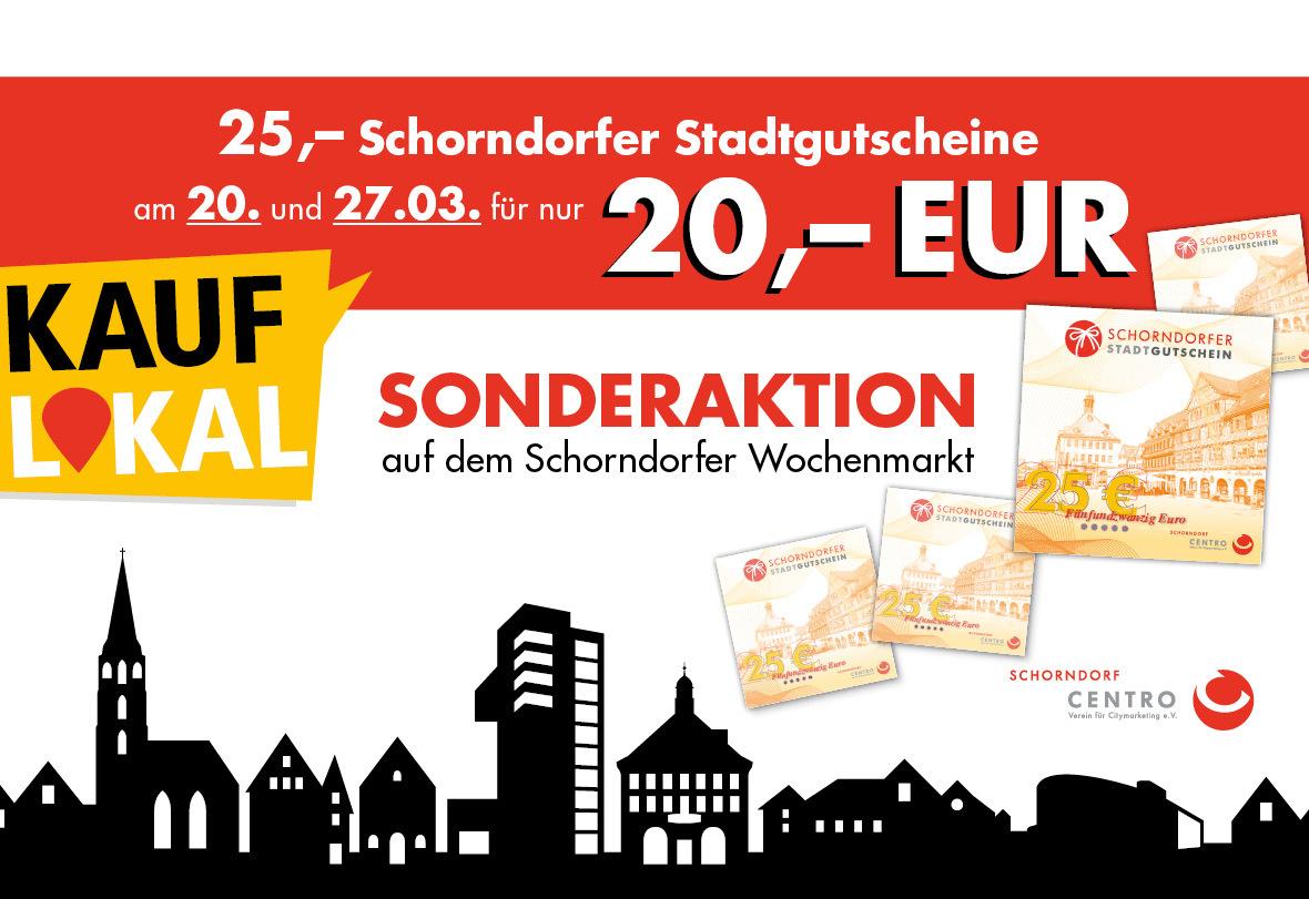 Schorndorfer Stadtgutschein Aktion 25€ für 20€