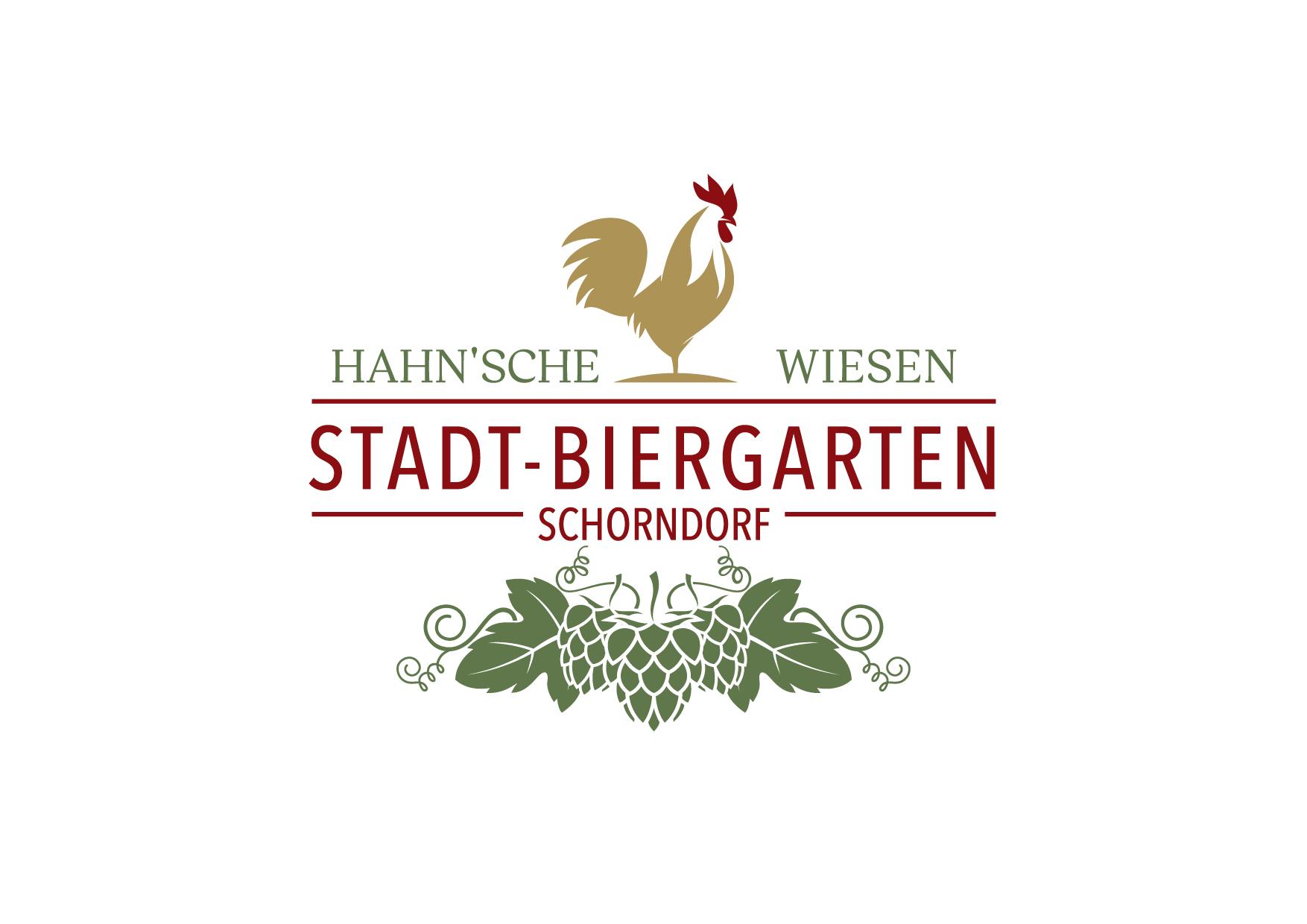 """Logo STADT-BIERGARTEN SCHORNDORF """"Hahn'sche Wiese"""""""