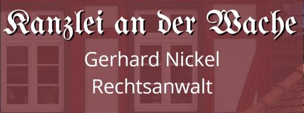 Logo Kanzlei An der Wache Rechtsanwalt Gerhard Nickel