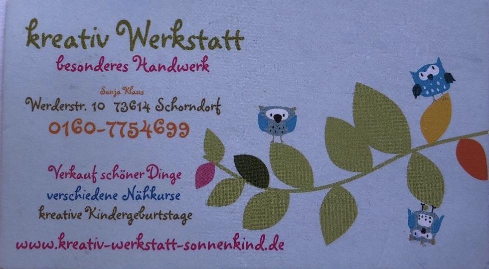 Logo Kreativ Werkstatt Sonnenkind